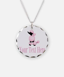French Poodle Pink Necklace