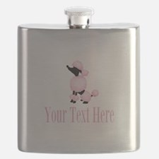 French Poodle Pink Flask