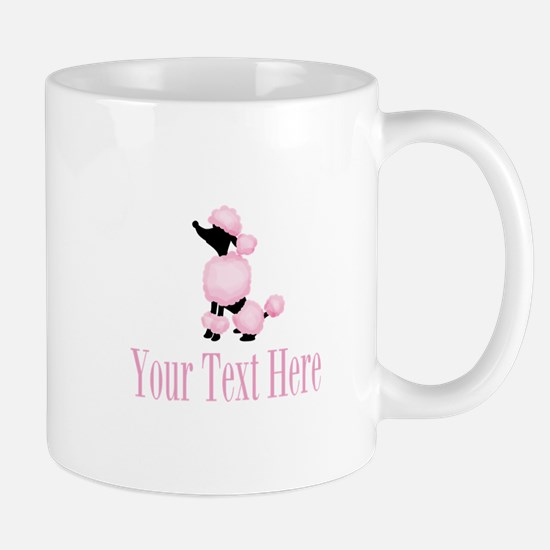 French Poodle Pink Mugs