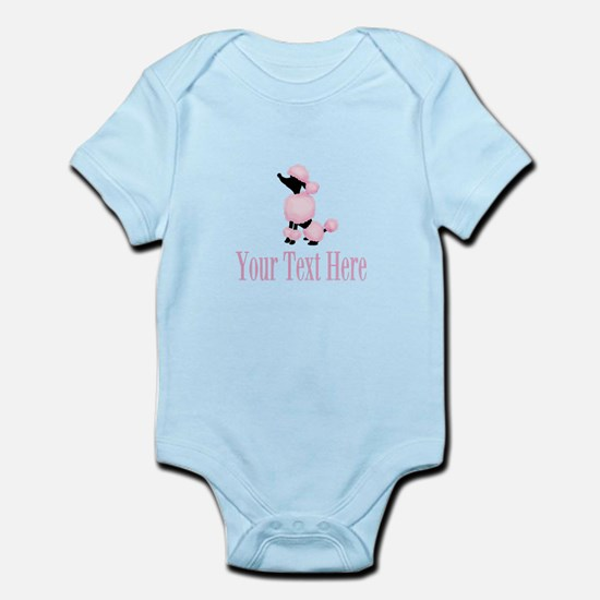 French Poodle Pink Body Suit