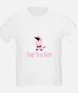 French Poodle Pink T-Shirt