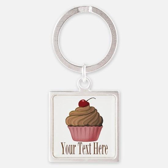Pink Brown Cupcake Keychains