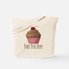 Pink Brown Cupcake Tote Bag