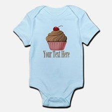 Pink Brown Cupcake Body Suit