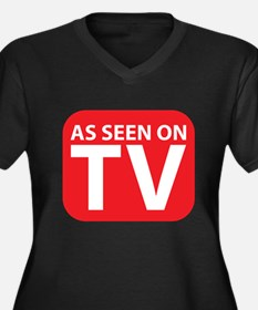 As Seen On Tv Women's Plus Size V-Neck Dark T-Shir