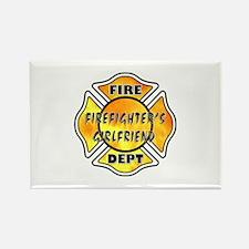 Firefighters Girlfriend Rectangle Magnet