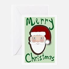 Retro Santa Clause Greeting Card