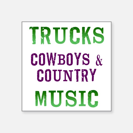 Trucks Cowboys Country Music Sticker