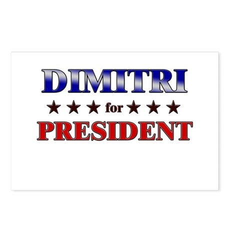 DIMITRI for president Postcards (Package of 8)