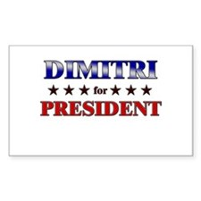 DIMITRI for president Rectangle Decal