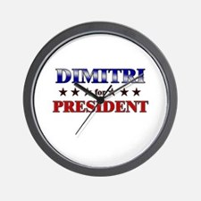DIMITRI for president Wall Clock