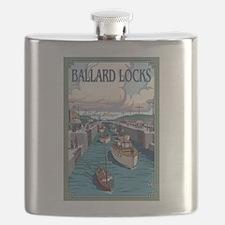 Seattle, Washington - Ballard Locks Flask