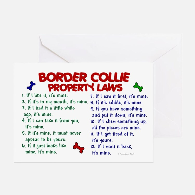 Border Collie Property Laws 2 Greeting Card