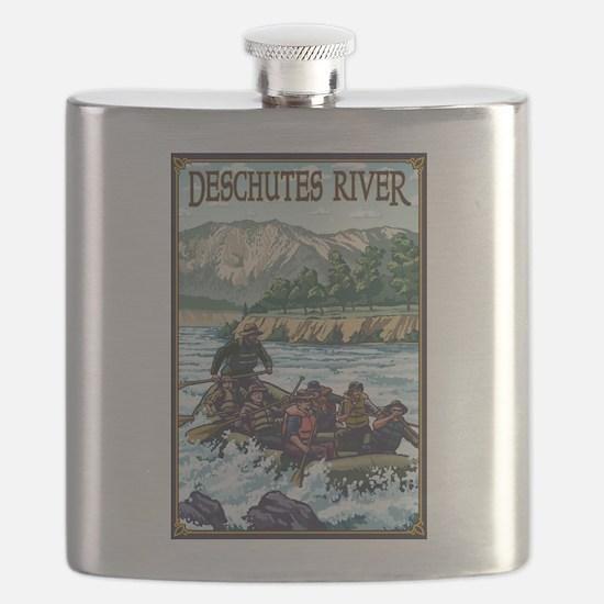 Bend, Oregon - Deschutes River Rafting Flask