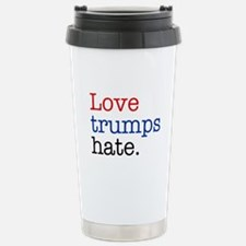 Love Trumps Hate Stainless Steel Travel Mug