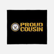 U.S. Navy: Proud Cousin (Black) Throw Blanket