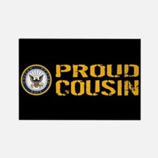U.S. Navy: Proud Cousin (Black) Rectangle Magnet