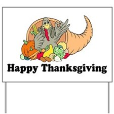 Happy Thanksgiving Yard Sign