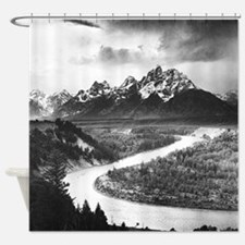 Ansel Adams The Tetons and the Snak Shower Curtain