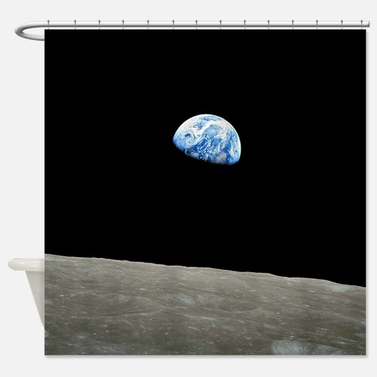 Earth Rise From Moon Shower Curtain