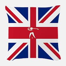 Team Golf Britain Woven Throw Pillow