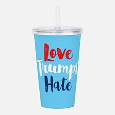 Love Trumps Hate Acrylic Double-wall Tumbler
