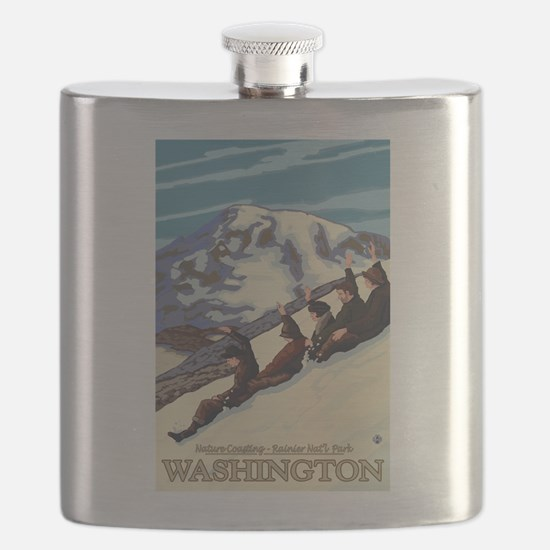 Mount Rainier, Washington - Nature Coasting Flask