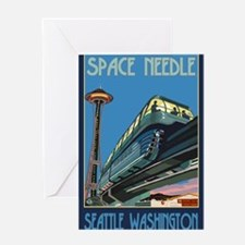 Seattle, Washington - Space Needle & Monorail Gree