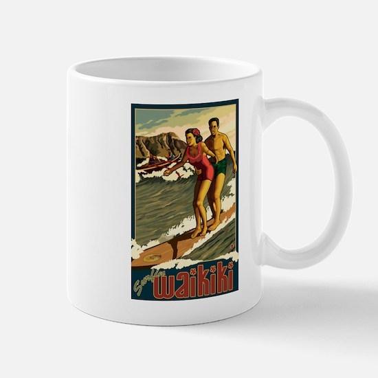 Waikiki, Hawaii - Surfing Mugs