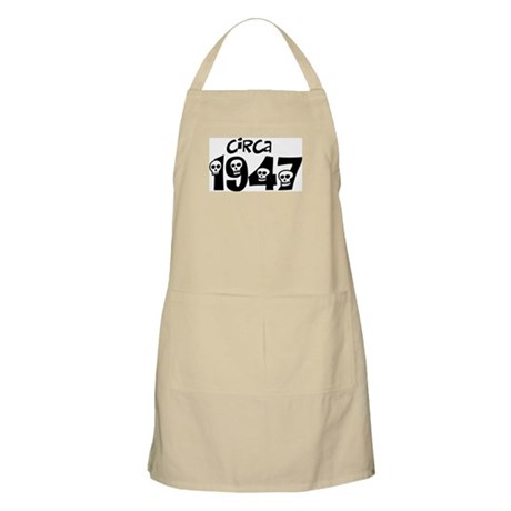 1947 60th birthday skulls BBQ Apron