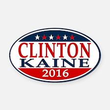 Hillary Clinton Tim Kaine 2016 Oval Car Magnet
