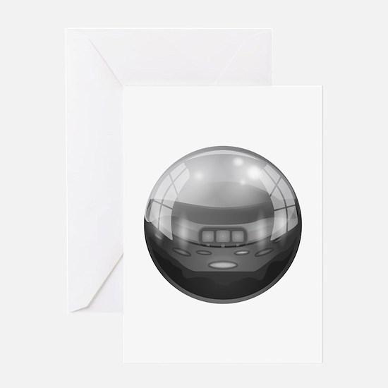 Silverball Pinball Ball Vector Greeting Cards