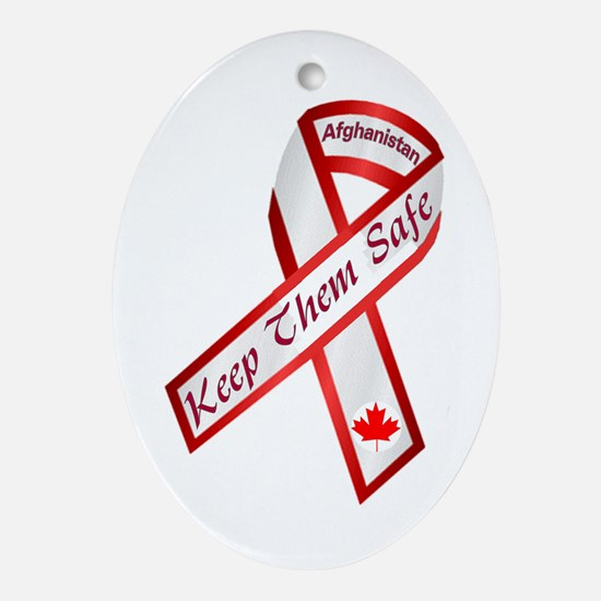 Keep Them Safe Oval Ornament