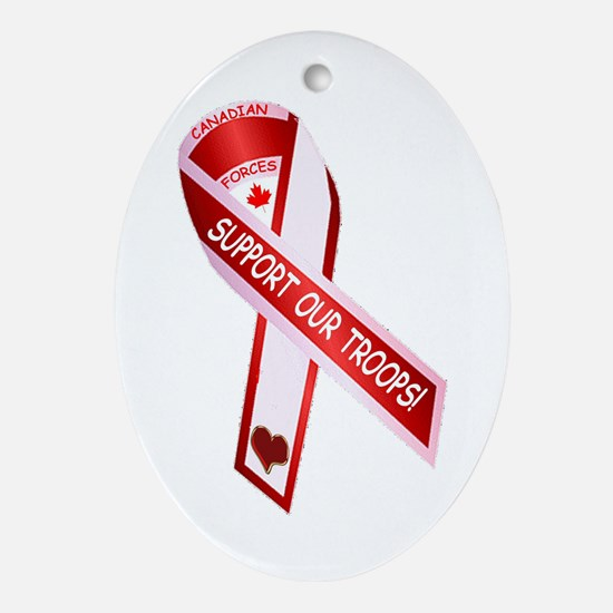 Support Our Troops Oval Ornament