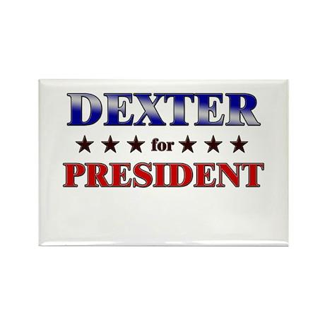 DEXTER for president Rectangle Magnet