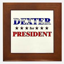 DEXTER for president Framed Tile