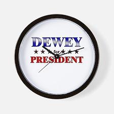 DEWEY for president Wall Clock