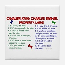 Cavalier King Charles Property Laws 2 Tile Coaster