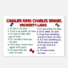 Cavalier King Charles Property Laws 2 Postcards (P