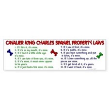 Cavalier King Charles Property Laws 2 Bumper Sticker