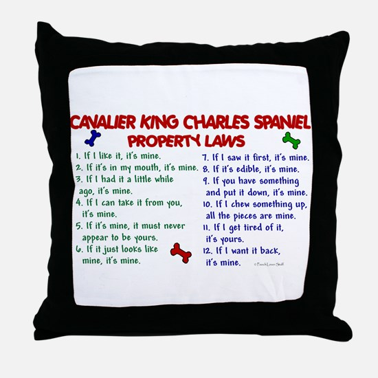 Cavalier King Charles Property Laws 2 Throw Pillow