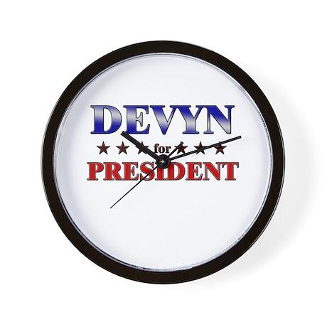 DEVYN for president Wall Clock