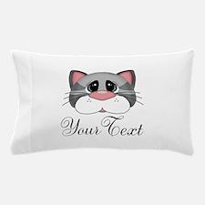 Gray Cat Pillow Case