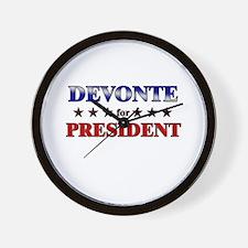 DEVONTE for president Wall Clock