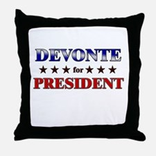 DEVONTE for president Throw Pillow
