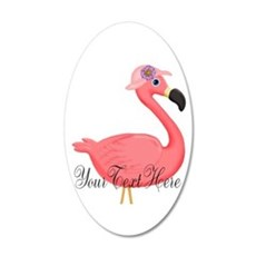 Pink Flamingo Lady Wall Decal