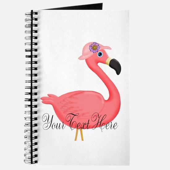 Pink Flamingo Lady Journal