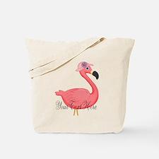 Pink Flamingo Lady Tote Bag