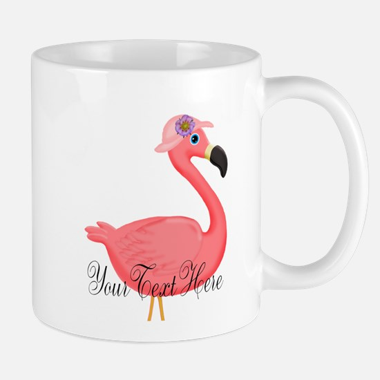 Pink Flamingo Lady Mugs