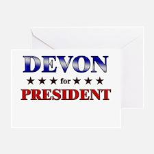 DEVON for president Greeting Card